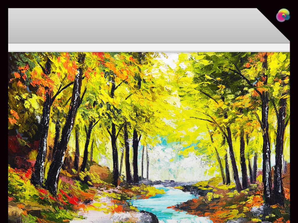彩绘油画电脑壁纸