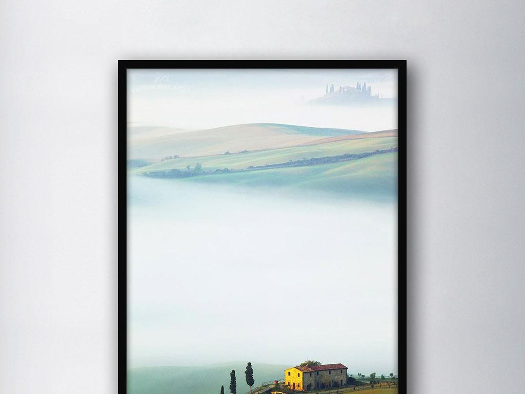 欧式写意风景清晨黎明唯美意境客厅装饰画