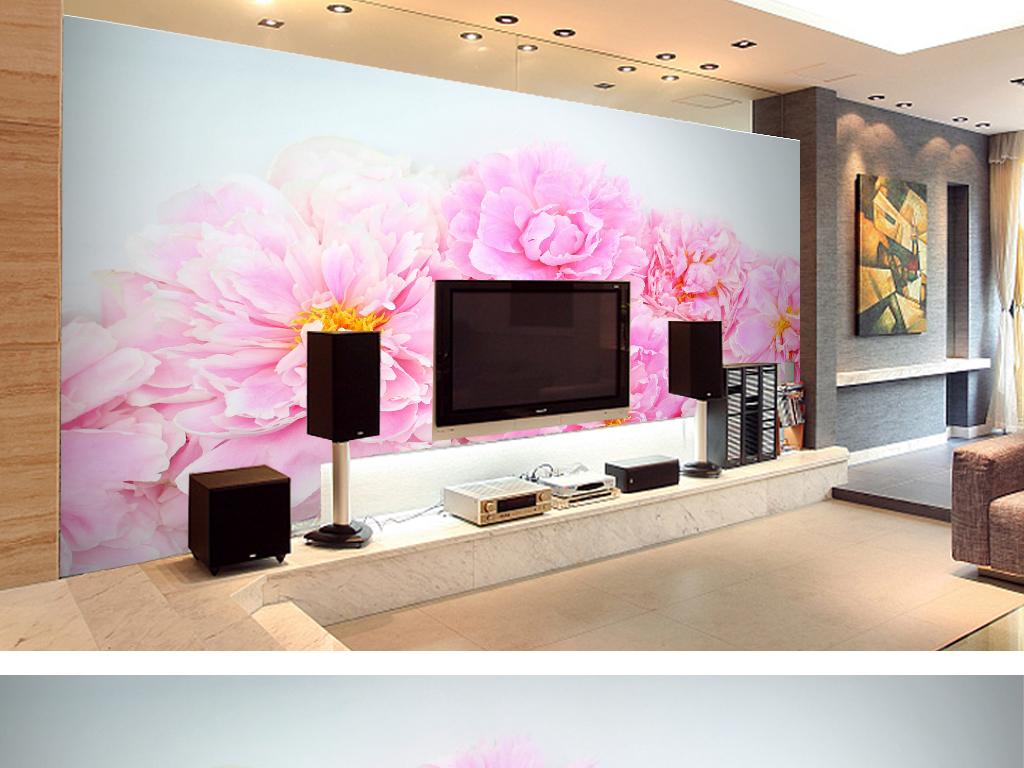 浮雕背景墙复古欧式客厅装饰