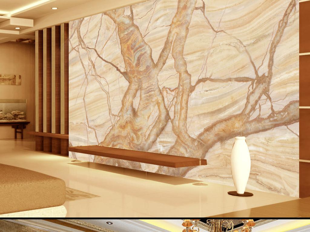 高清大理石树电视背景墙(图片编号:15868740)