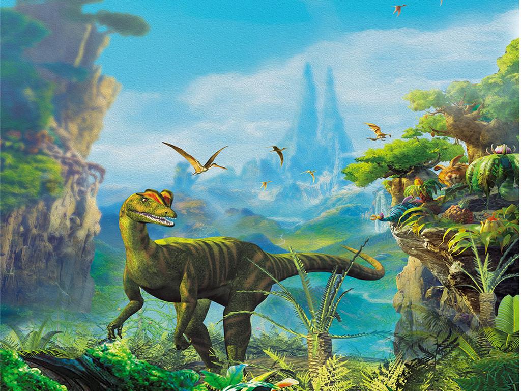 3d恐龙油画