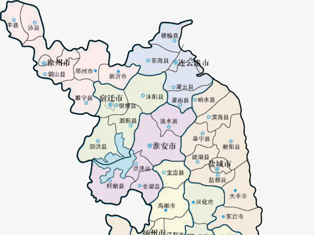 江苏省各市矢量eps地图轮廓