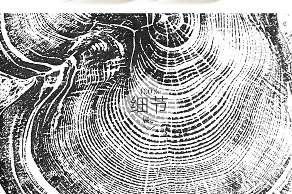北欧大树年轮抽象装饰画