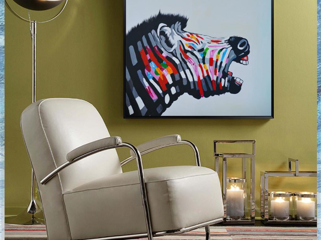 厨房卧室简欧中式客厅餐厅卧室装饰画油画美式有框画画芯马室内装饰画