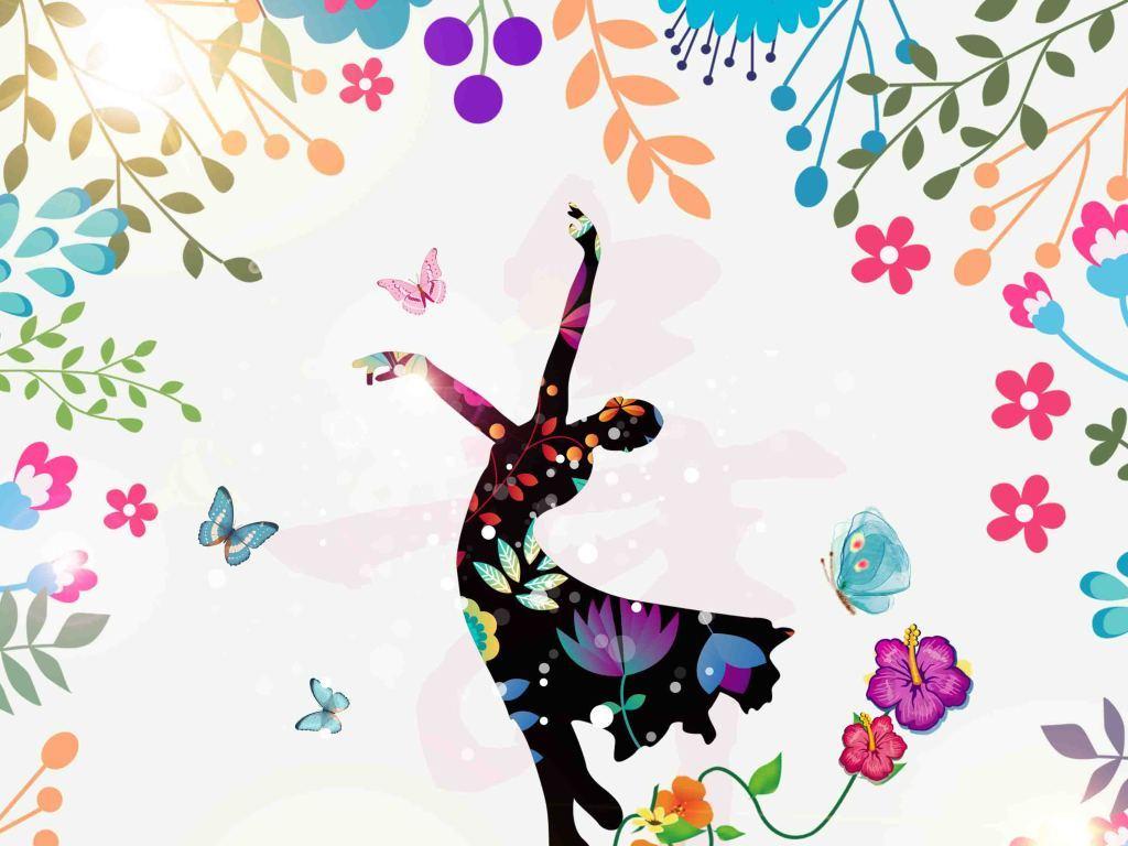 跳舞手绘招贴