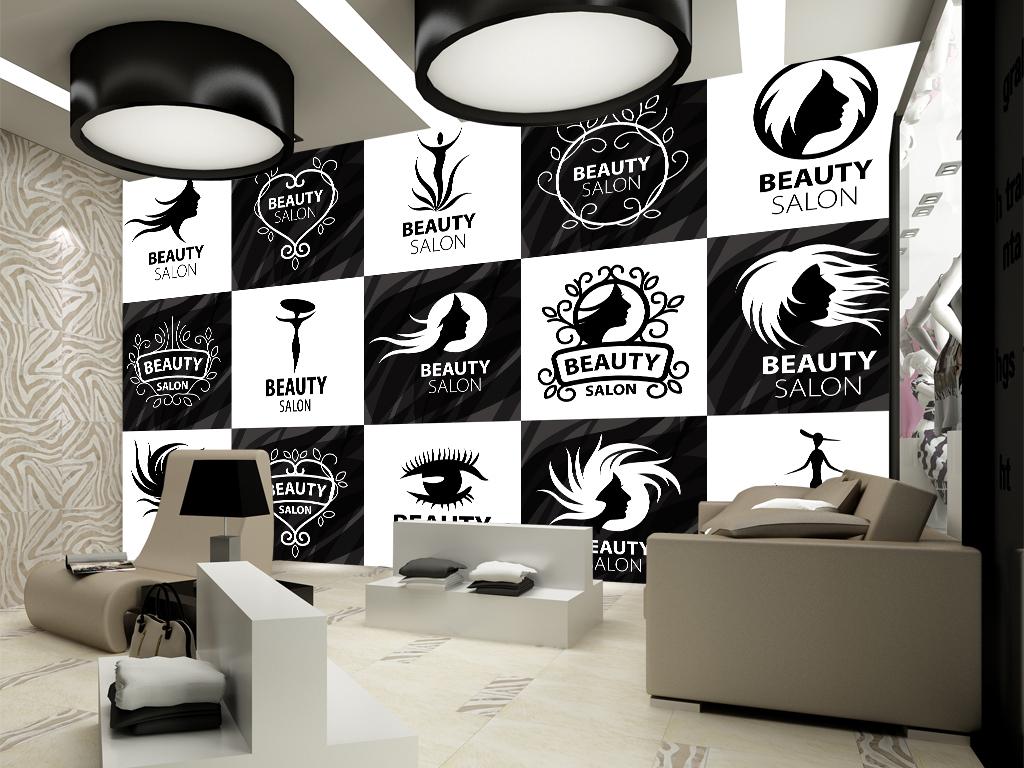 廊专用黑白形象墙