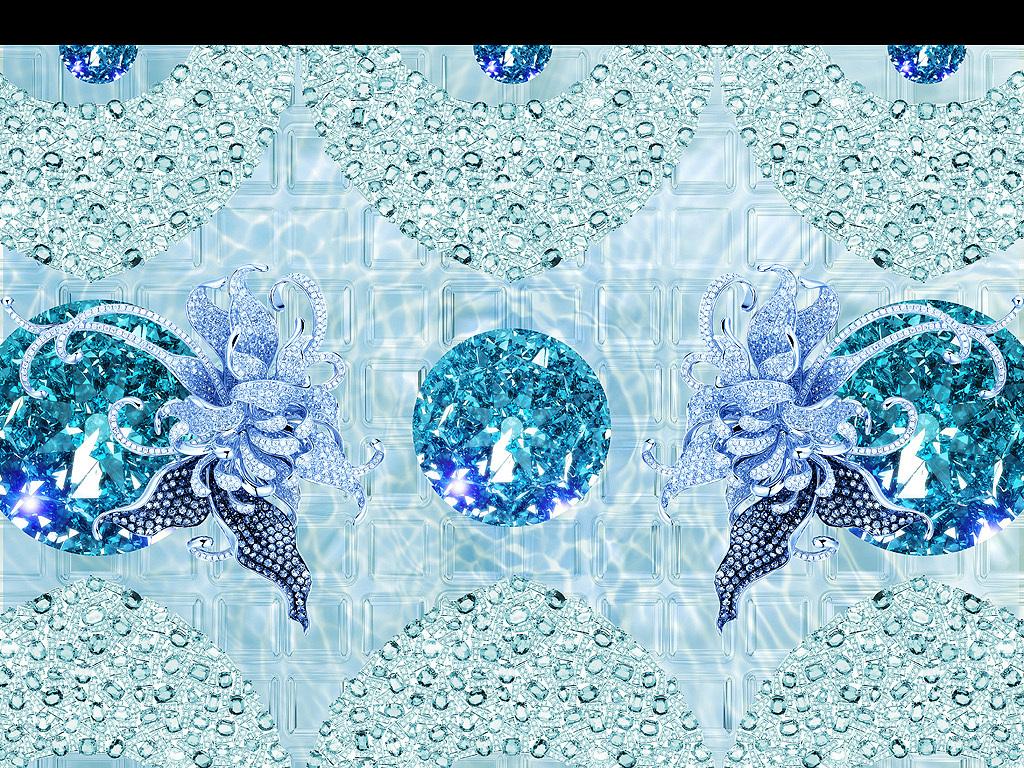 背景墙珠宝立体心形