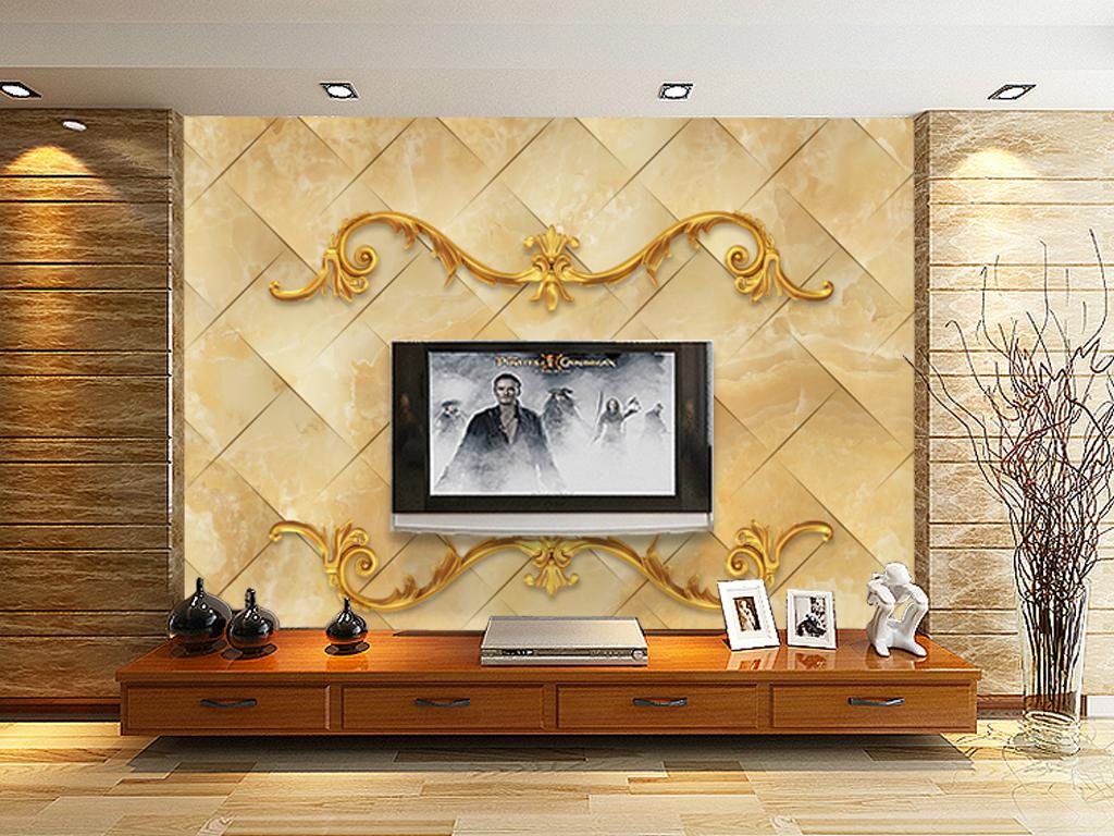 我图网提供精品流行客厅电视背景墙壁纸