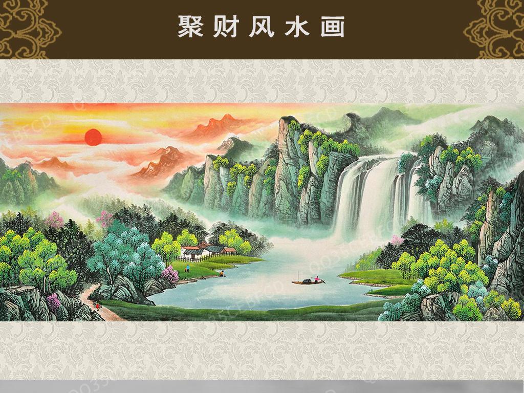 桂林山水画作品图片
