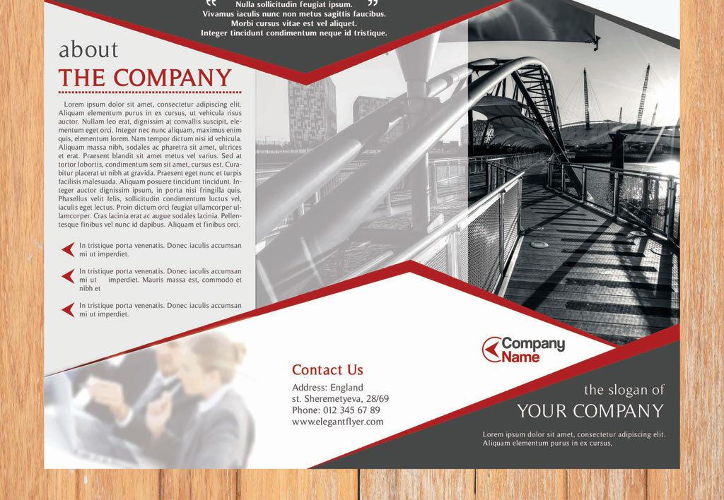 宣传单 折页设计|模板 > 公司宣传三折页设计模版企业画册psd  版权