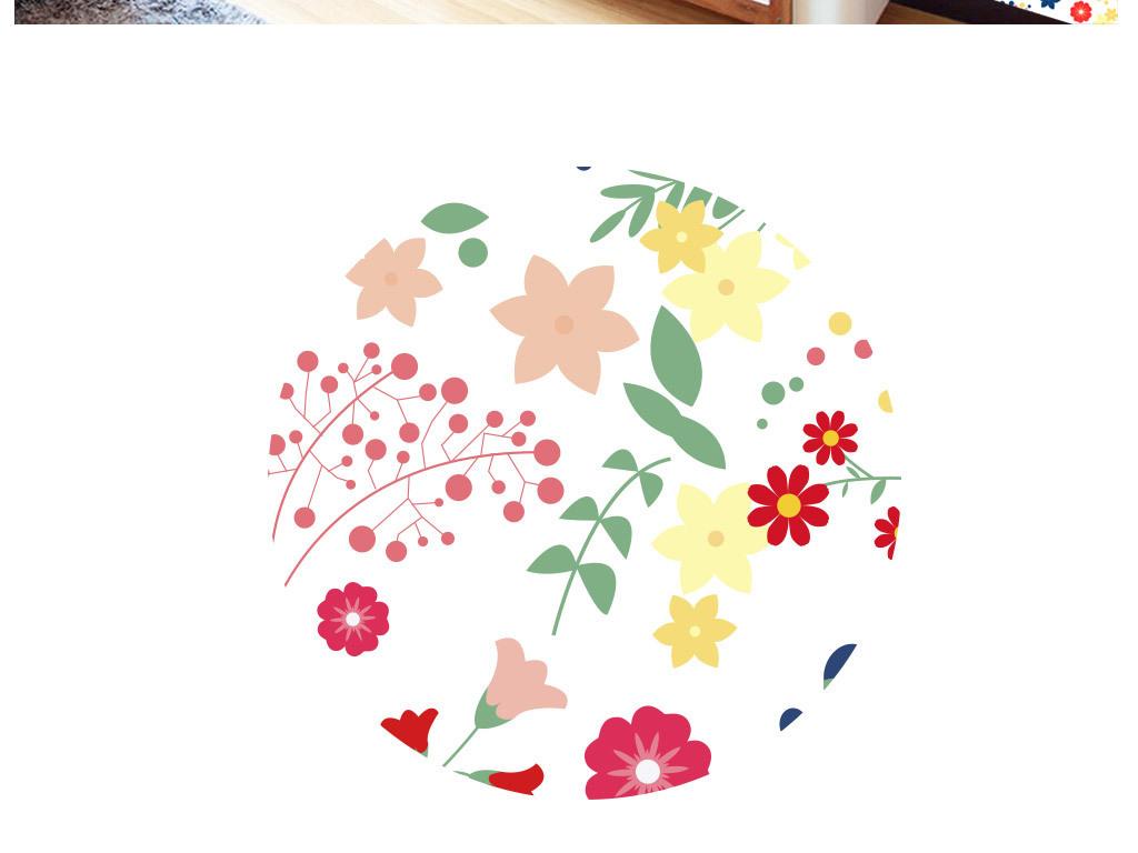 墙纸卡通儿童儿童动物动物世界儿童世界矢量图库cdr矢量图黑白