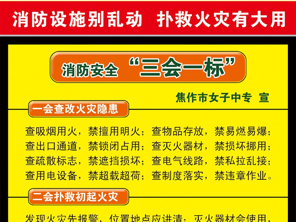 消防知识消防安全知识消防安全知识展板消防安全漫画消防安全小