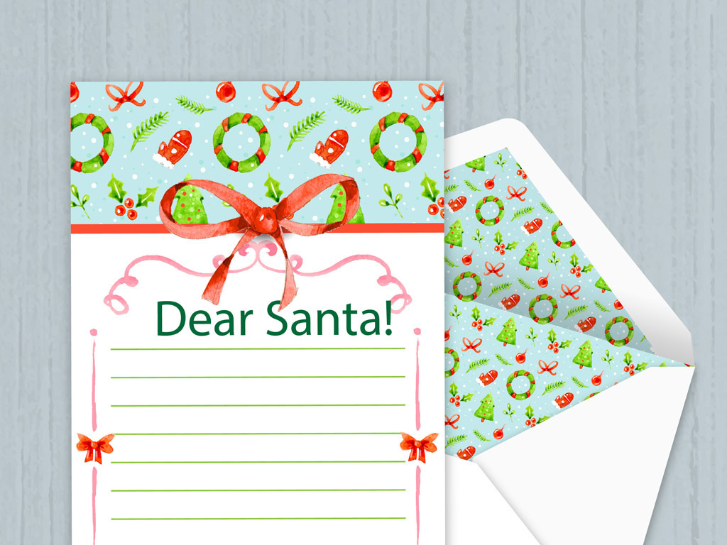 简约圣诞信纸信纸素材(图片编号:15876271)_圣诞节_我图片