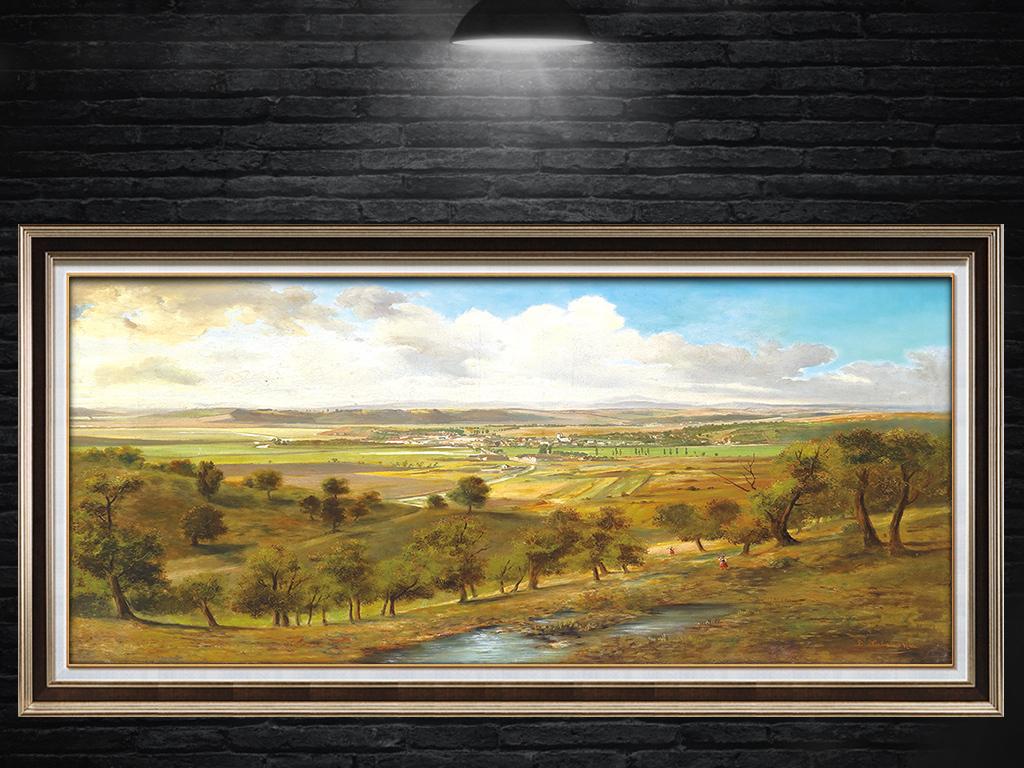 欧美田园风景油画无框画