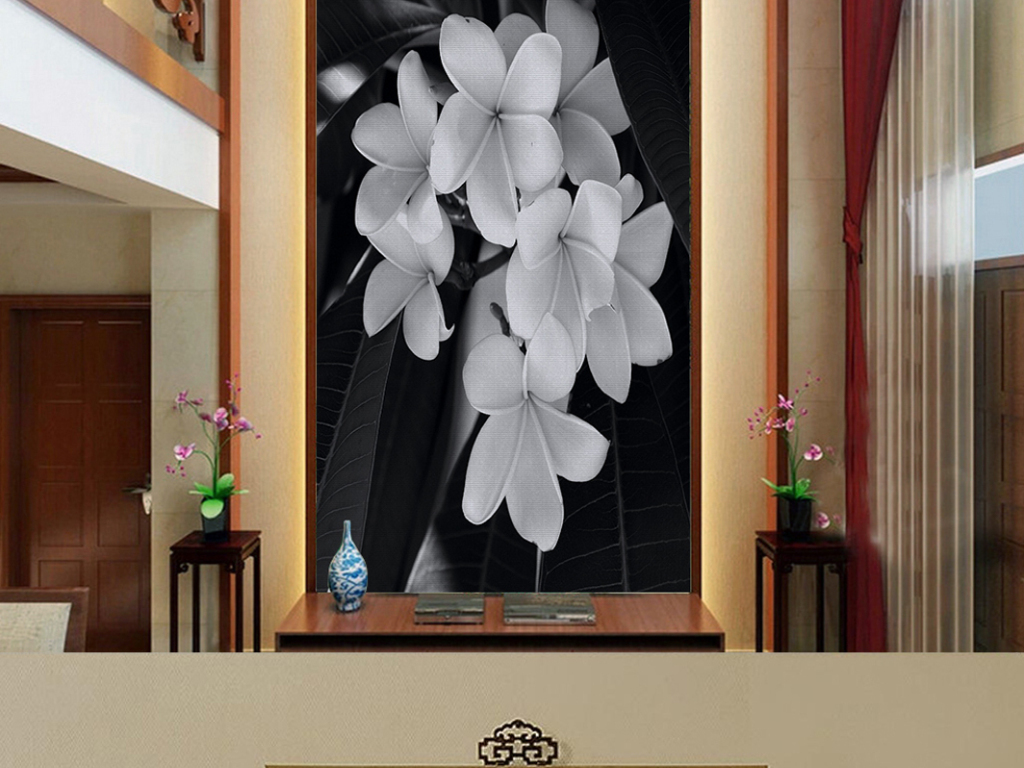 欧式玄关logo墙