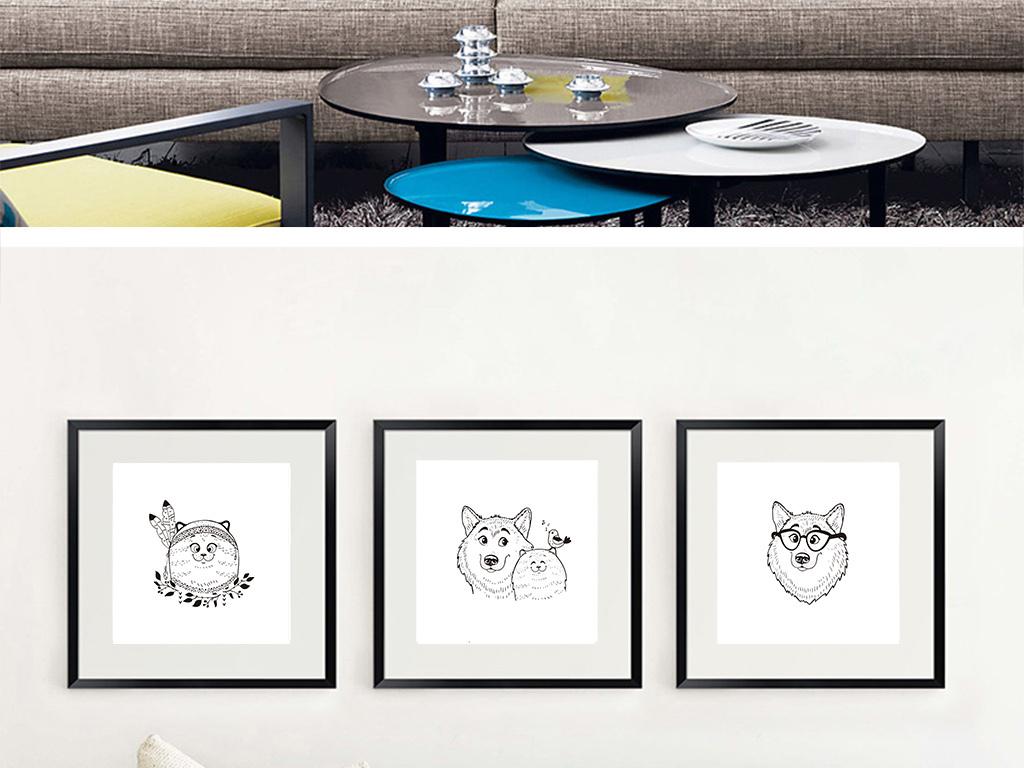 动物动物剪影卡通小动物保护动物海洋动物动物卡通画