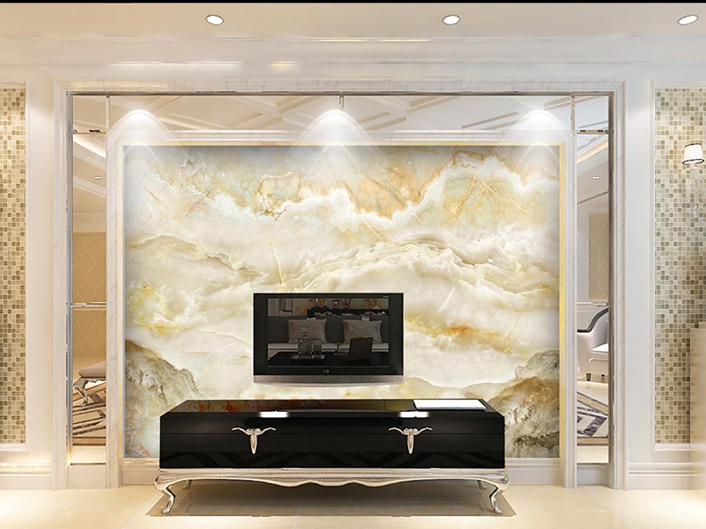 云中歌大理石纹客厅电视背景墙图片设计素材_高清模板