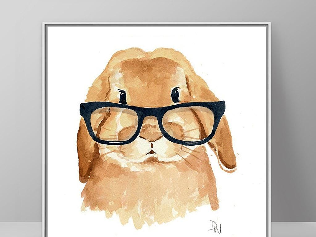我图网提供精品流行戴眼镜的兔子可爱北欧简约现代家居装饰画素材下载,作品模板源文件可以编辑替换,设计作品简介: 戴眼镜的兔子可爱北欧简约现代家居装饰画 位图, RGB格式高清大图, 兔子 欧式 北欧 欧美 美式 法式