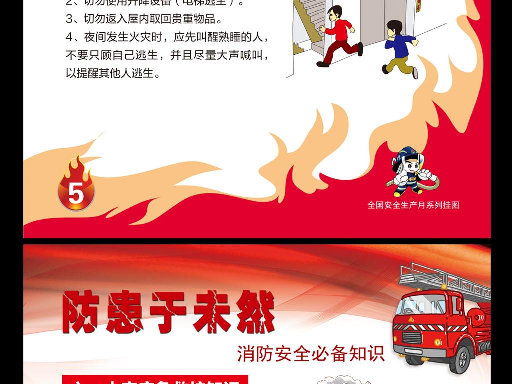 单位企业学校消防安全知识挂图模板