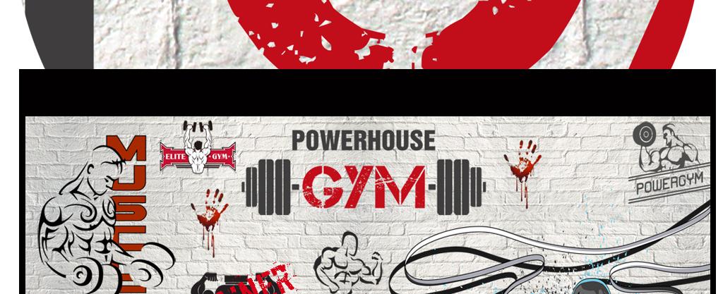 个性拳击砖墙涂鸦运动健身会所形象墙背景墙图片