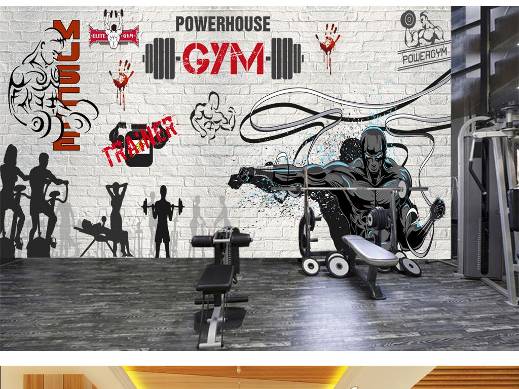 psd)打拳手绘                                  健身素材gym