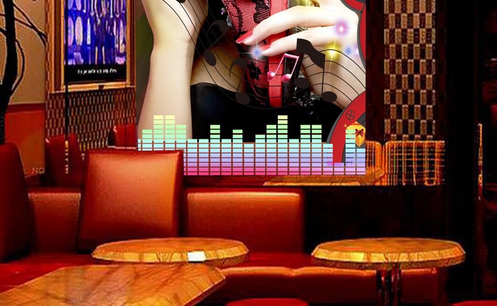 高清性感美女夜店酒吧工装玄关