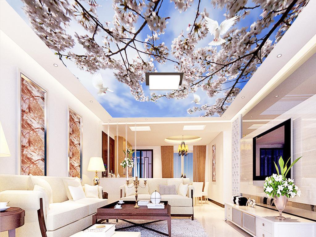 天花唯美花卉天顶画天顶油画欧式天顶油画欧式天顶