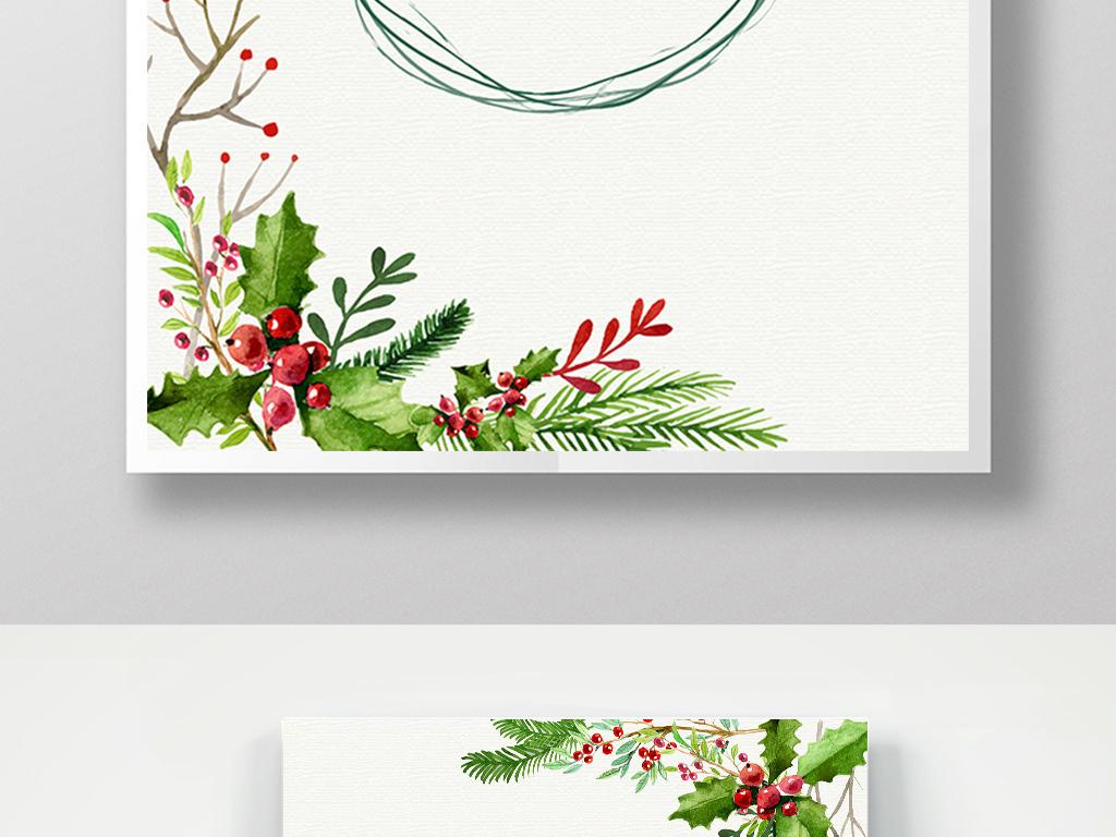 圣诞快乐圣诞节海报手绘图片圣诞节
