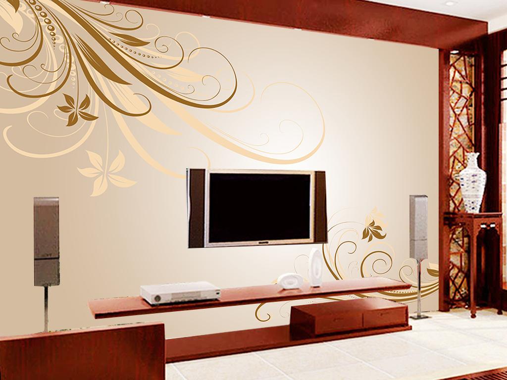 我图网提供精品流行欧式花纹雅韵电视背景墙