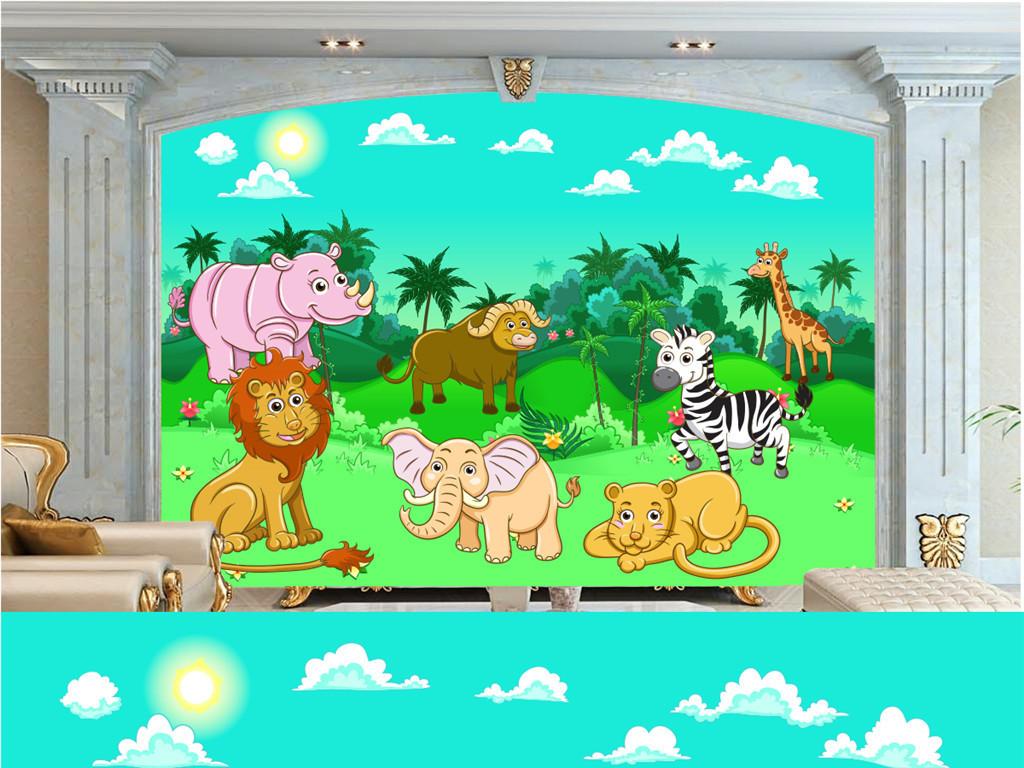 卡通手绘动物背景电视卡通石狮子舞狮子狮子头狮子图片小狮子图片卡通