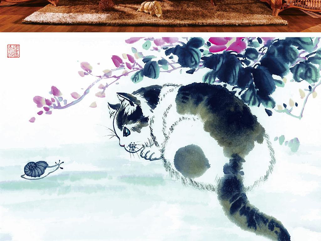 背景墙 电视背景墙 电视背景墙 > 猫咪和蜗牛  素材图片参数: 编号