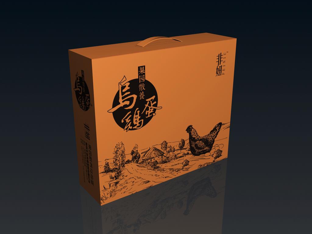 手提袋设计模板 > 乌鸡蛋生态家产品包装箱(展开图)