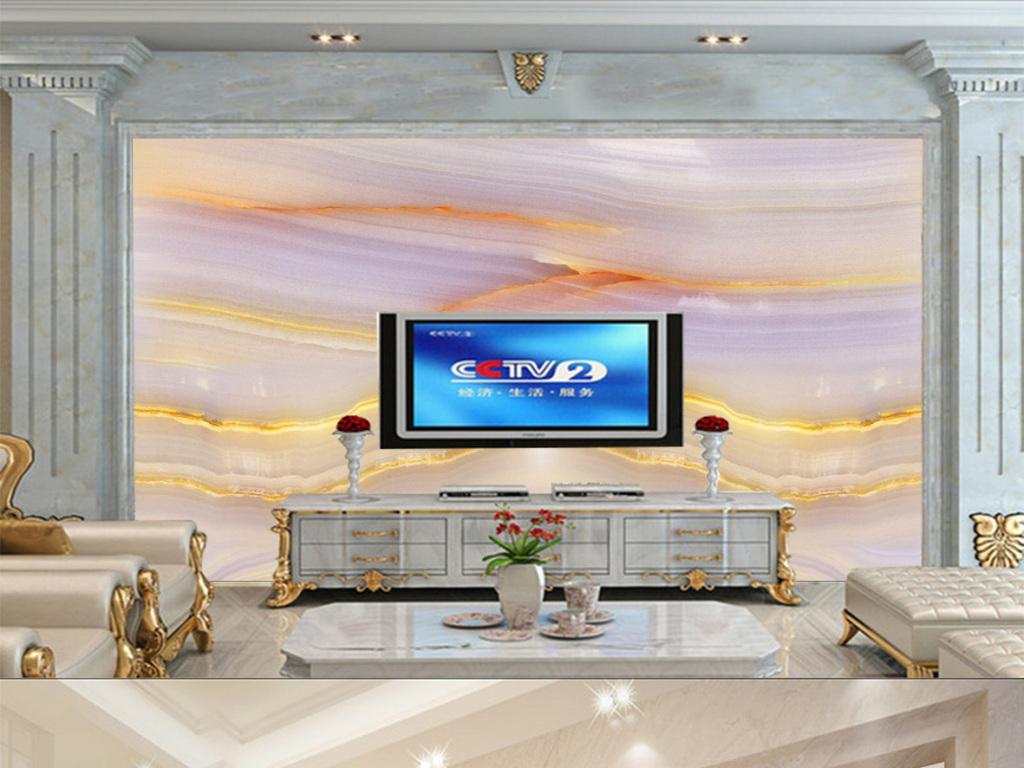 大理石纹欧式大理背景欧式电视沙发背景墙图片客厅