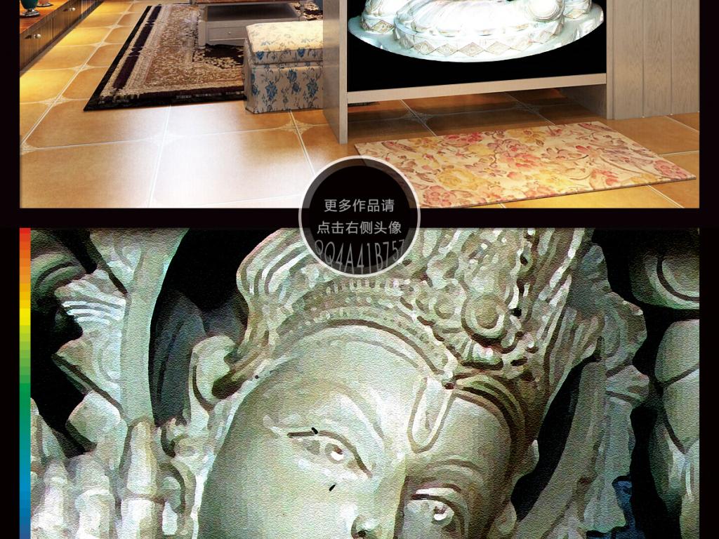 欧式瓷砖砂岩浮雕玄关过道门厅电视背景墙