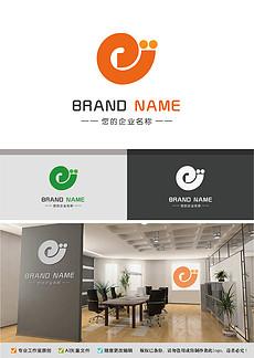 创意可爱蜗牛logo时尚字母E简约标志