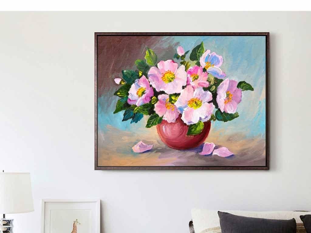 动物风景山水巨幅个性装饰画北欧装饰画欧式油画花卉花卉油画客厅装饰