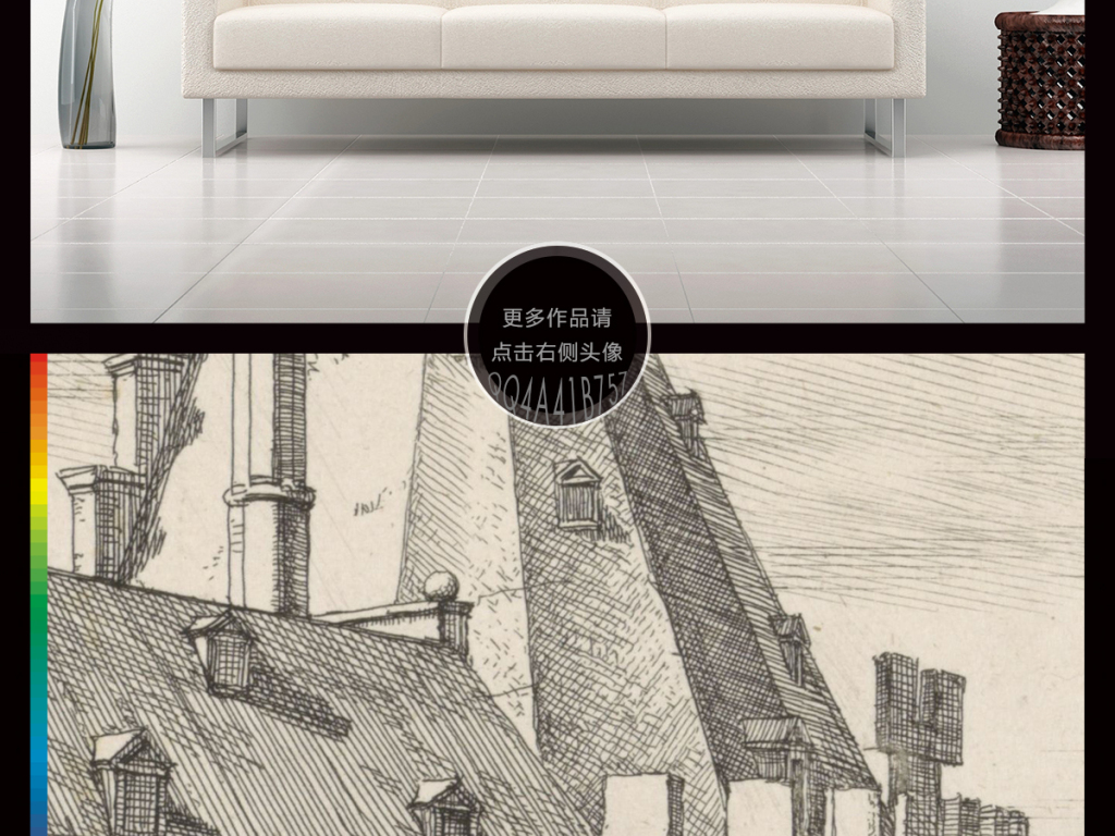 小镇复古怀旧复古背景手绘背景黑白手绘建筑复古手绘素描黑白建筑建筑