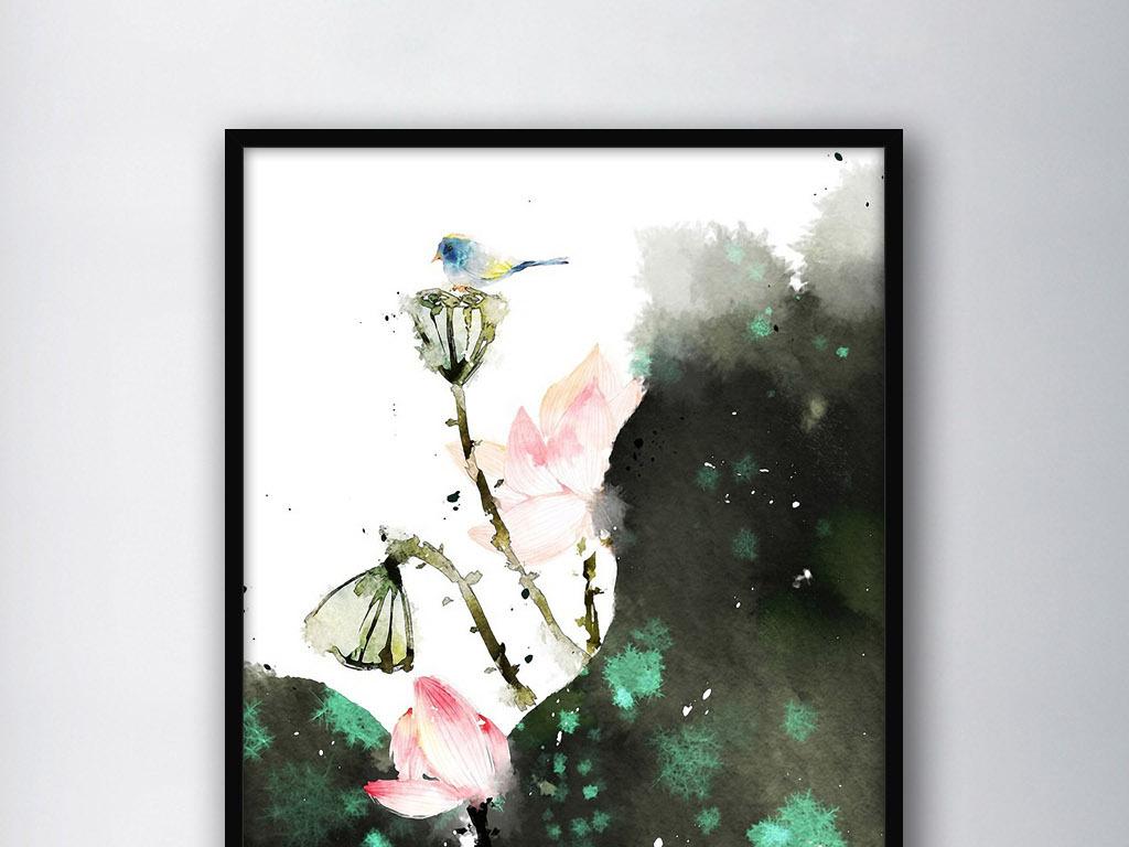 唯美莲花手绘图片