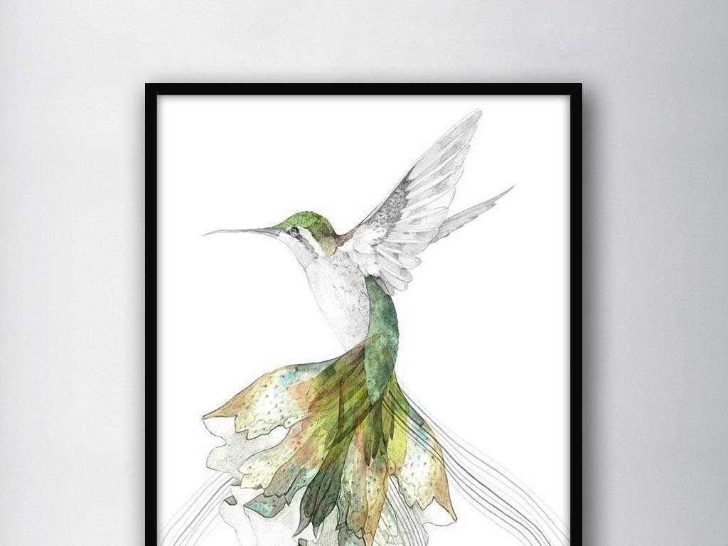 蜂鸟北欧简约                                  小清新手绘