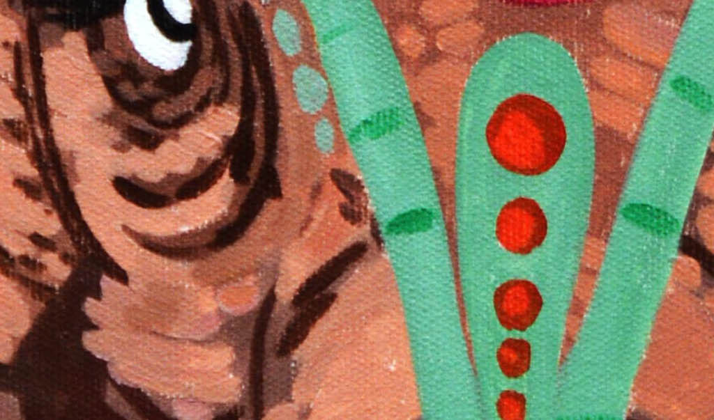 手绘抽象大象艺术玄关
