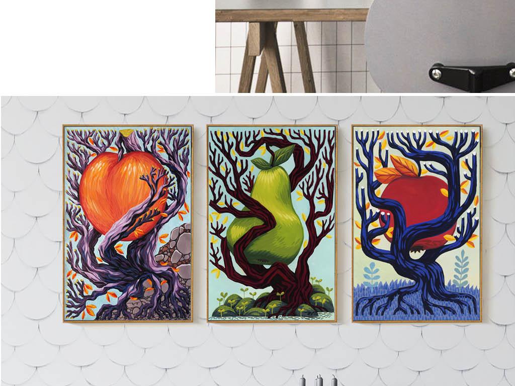装饰画 北欧装饰画 植物花卉装饰画 > 北欧风格抽象长硕大果实的树