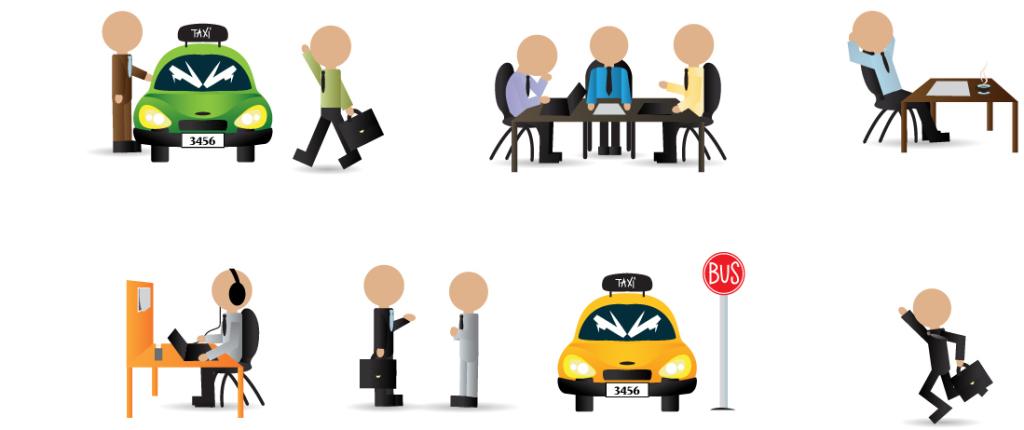 创意个性简洁商务人物ppt图标大全图片