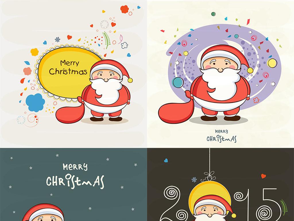 108款华丽手绘圣诞节矢量元素背景合集