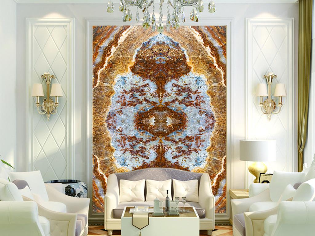 石材大理石纹理玉石欧式玄关背景瓷砖背景墙艺术3d