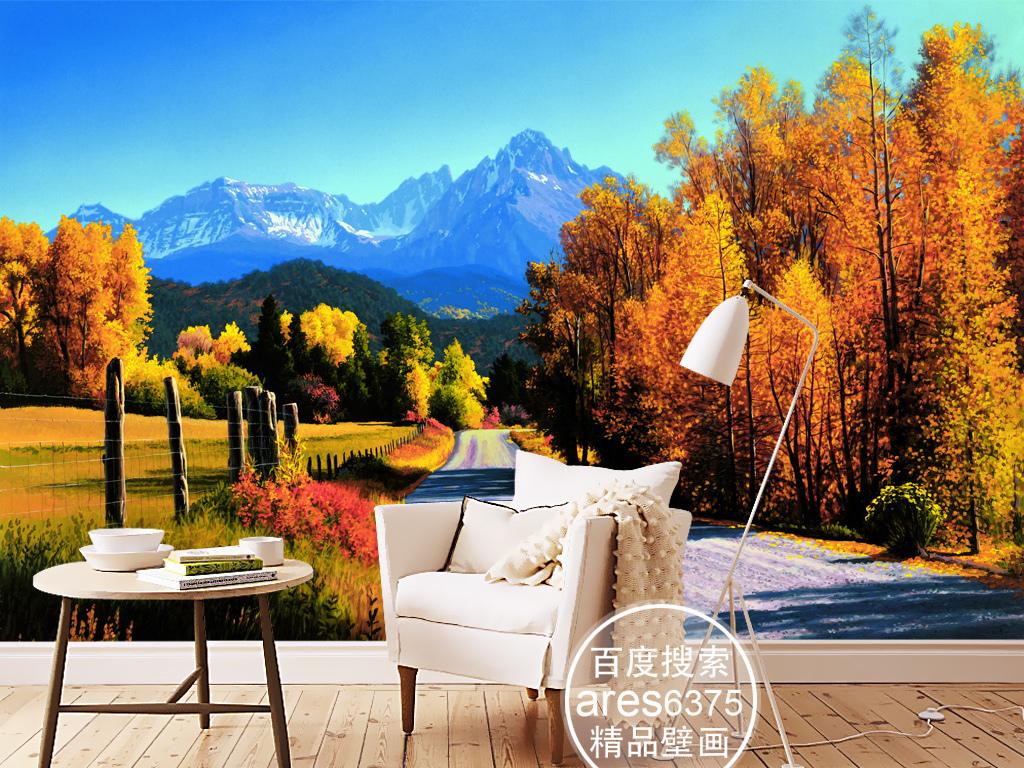 我图网提供精品流行欧式现代风景油画黄色