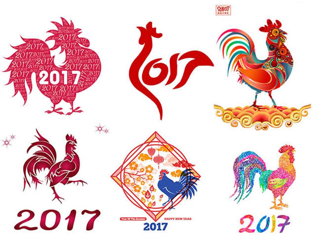 2017鸡年公鸡元素图片
