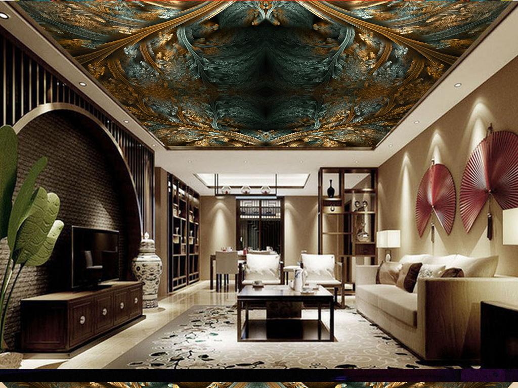欧式花纹天花板吊顶(图片编号:15898541)