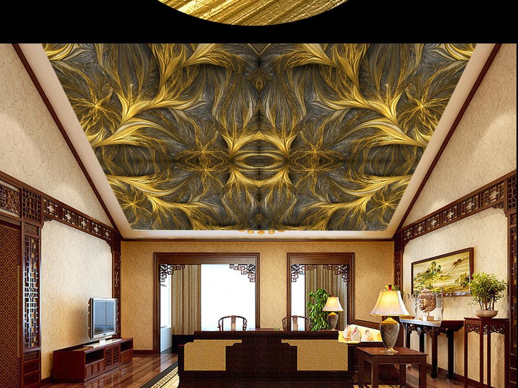 欧式几何艺术天顶壁画