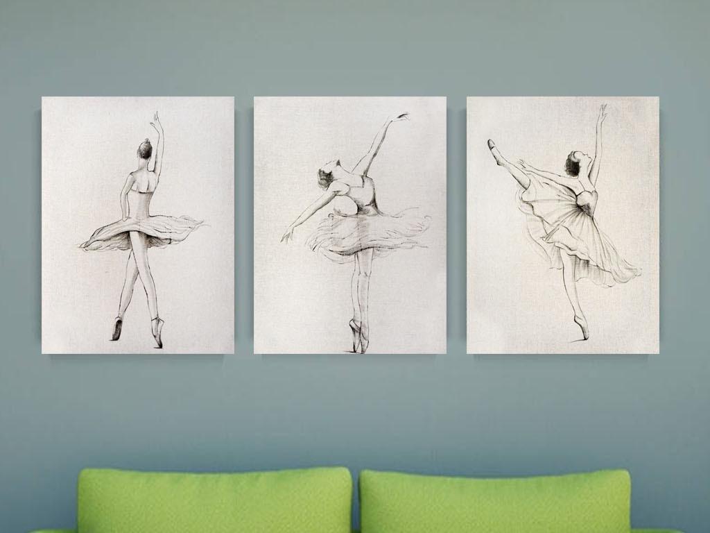 舞者图片手绘简单