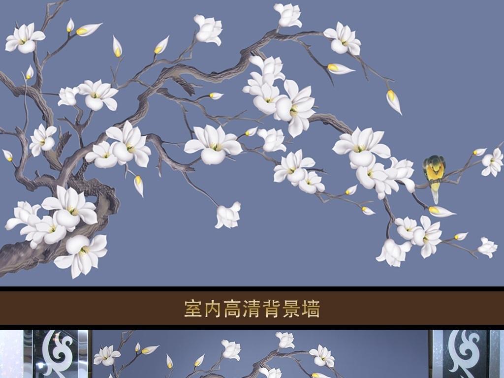 蓝色玉兰 位图, rgb格式高清大图,使用软件为 photoshop cc(.